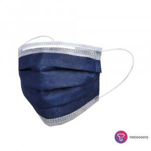 Lacivert 3 Katlı Telli Cerrahi Maske