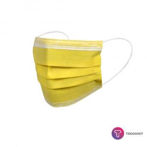 Sarı 3 Katlı Telli Cerrahi Maske