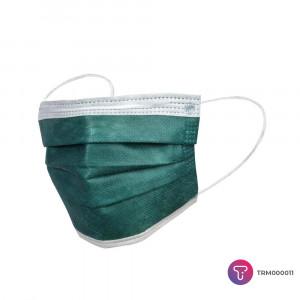Koyu Yeşil 3 Katlı Meltblown Telli Cerrahi Maske